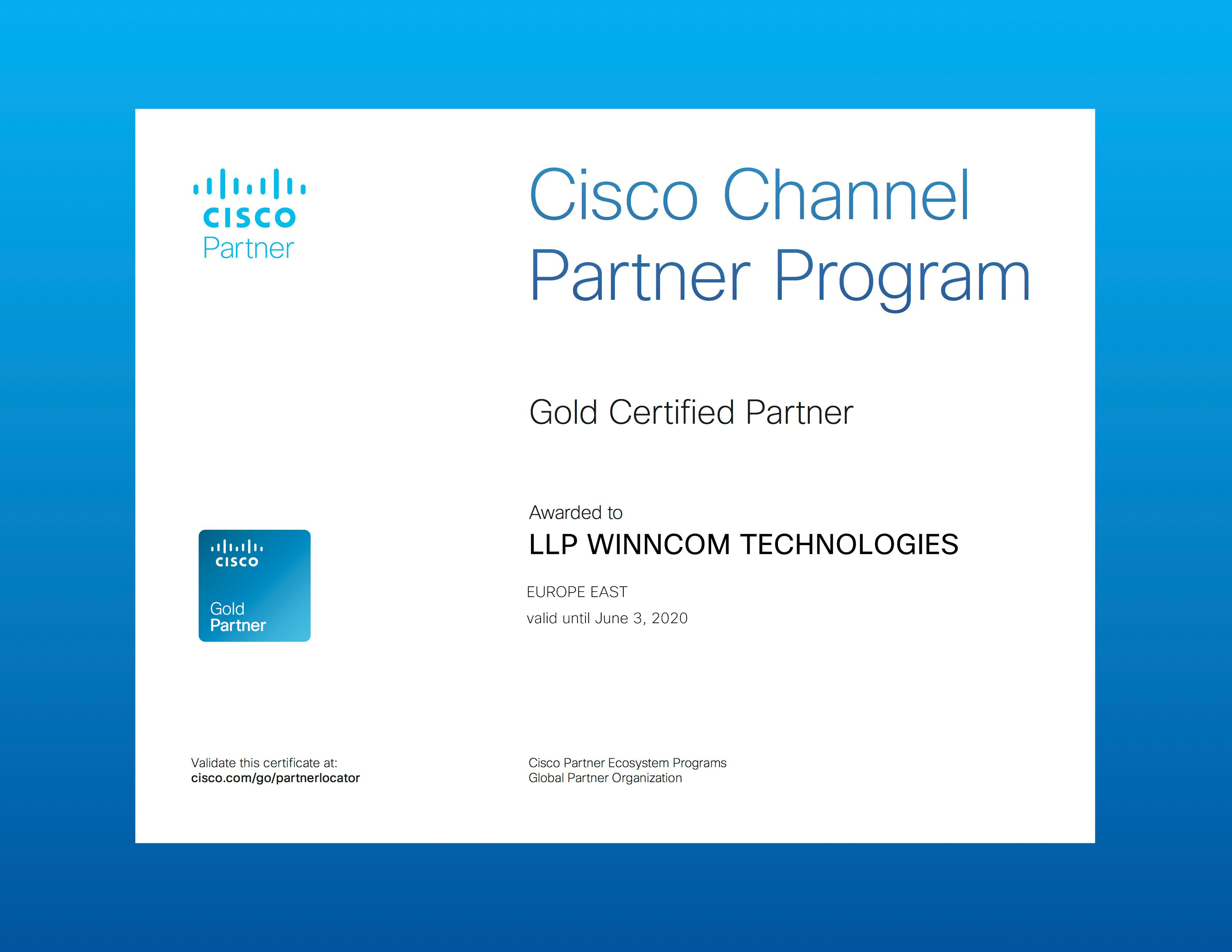 Winncom  Cisco Gold Partner
